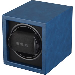 Benson Compact 1.17 Blue leather watch winder