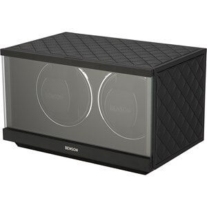 Benson Swiss Series Double 2.20 Black Leather watch winder