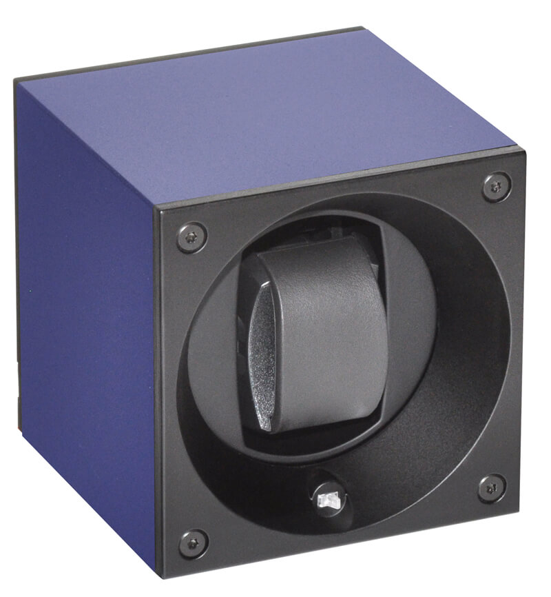 Swiss Kubik watch winder blue