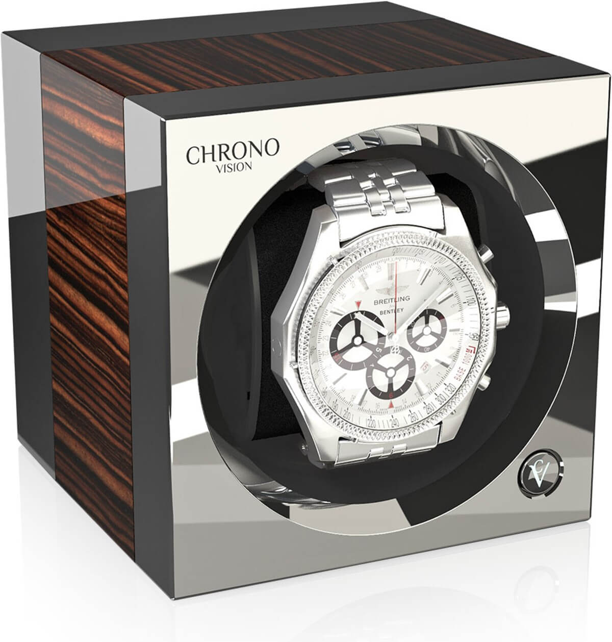 Chronovision One Macassar high-gloss / chrome