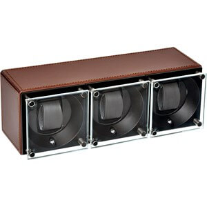 Swiss Kubik Triple Leather Brown SK03.CV004 plexi